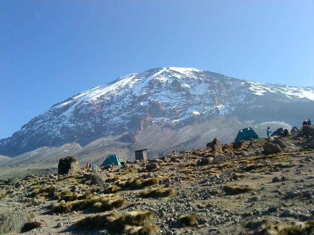 View of Mt KLM from Karanga camp
