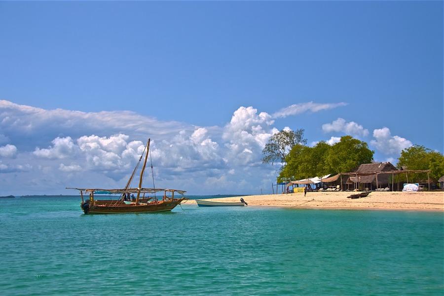 a boat in zanzibar sea
