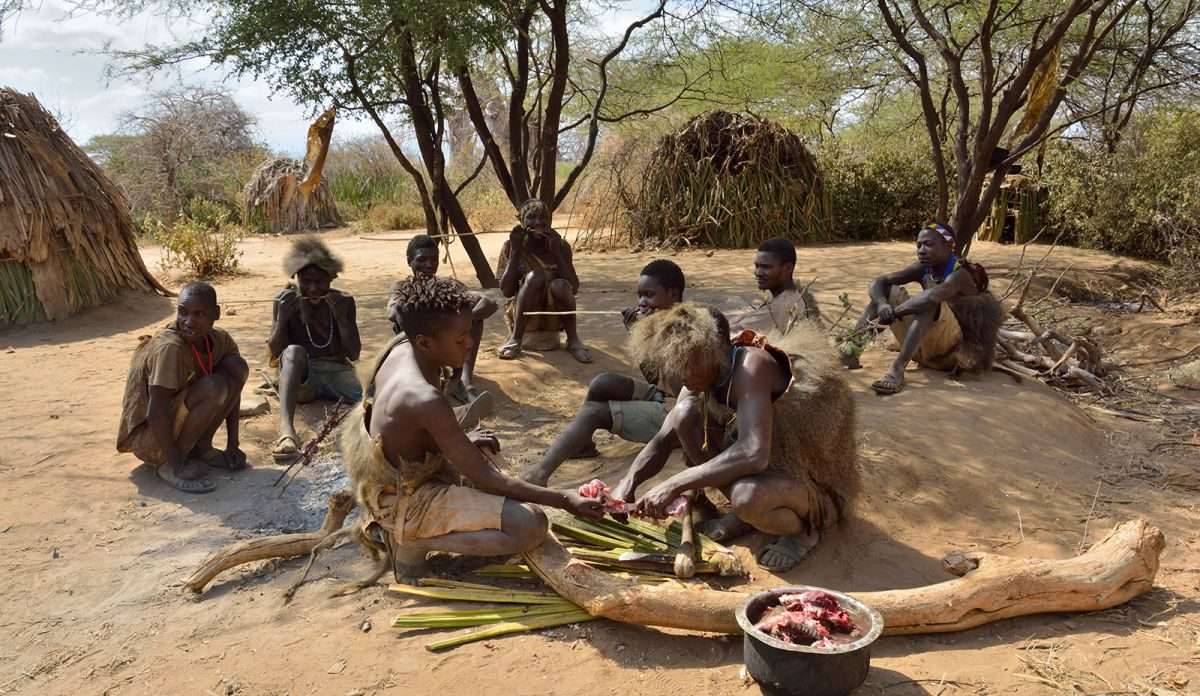 Meal Preparation, Hadzabe Tribe, Arusha, Tanzania