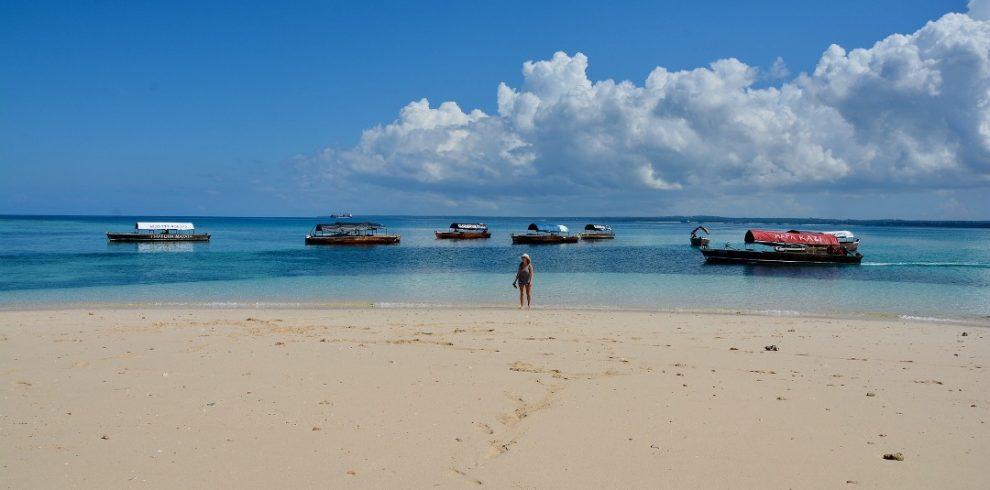 beach sand in zanzibar
